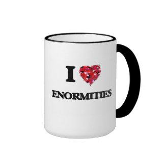 I love ENORMITIES Ringer Coffee Mug