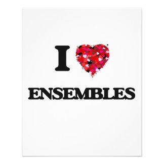 """I love ENSEMBLES 4.5"""" X 5.6"""" Flyer"""