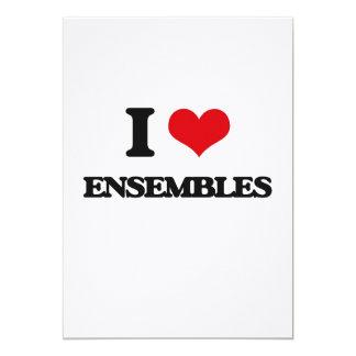 I love ENSEMBLES 5x7 Paper Invitation Card