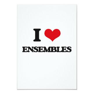 I love ENSEMBLES 3.5x5 Paper Invitation Card