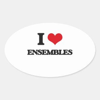 I love ENSEMBLES Oval Sticker