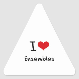 I love Ensembles Triangle Sticker