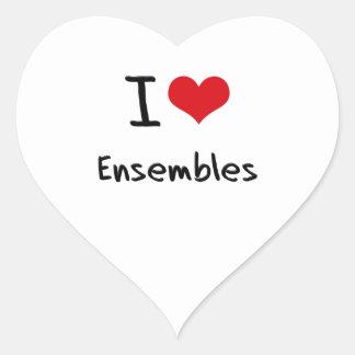 I love Ensembles Heart Sticker