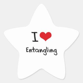 I love Entangling Star Sticker