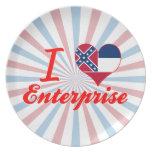 I Love Enterprise, Mississippi Party Plate