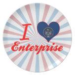 I Love Enterprise, Utah Party Plate