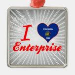 I Love Enterprise, Wisconsin Christmas Ornaments