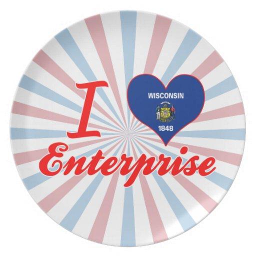 I Love Enterprise, Wisconsin Dinner Plate