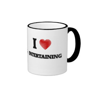 I love ENTERTAINING Ringer Mug