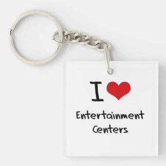 I love Entertainment Centers Square Acrylic Key Chain
