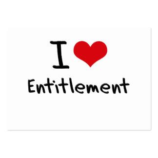 I love Entitlement Business Card