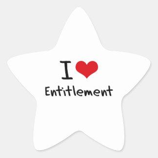 I love Entitlement Star Stickers