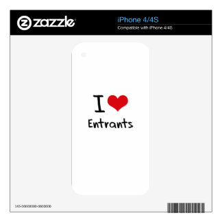 I love Entrants Decal For iPhone 4