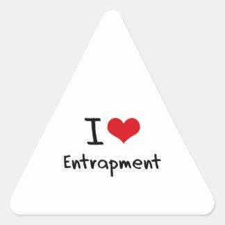I love Entrapment Triangle Sticker