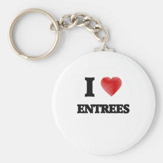 I love ENTREES Basic Round Button Keychain