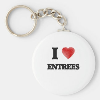 I love ENTREES Keychain