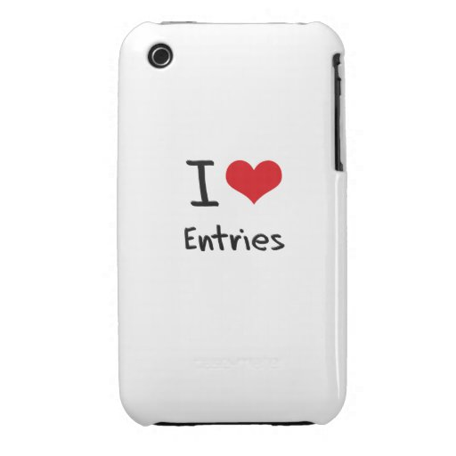 I love Entries iPhone 3 Cases