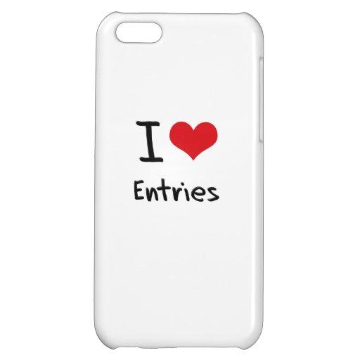I love Entries iPhone 5C Cases