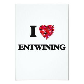 I love ENTWINING 3.5x5 Paper Invitation Card