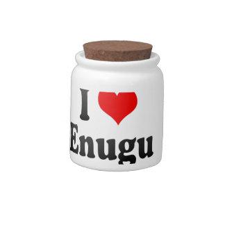 I Love Enugu, Nigeria Candy Jar