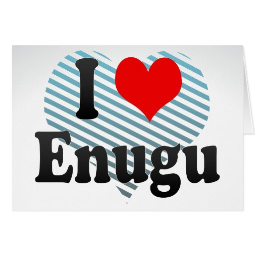 I Love Enugu, Nigeria Cards