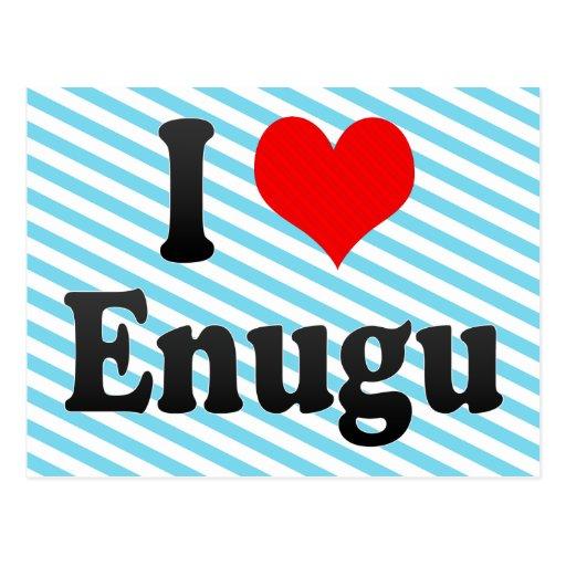 I Love Enugu, Nigeria Post Card