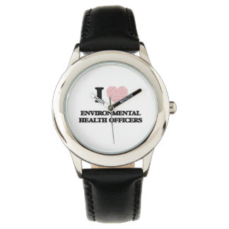 I love Environmental Health Officers (Heart made f Wristwatch