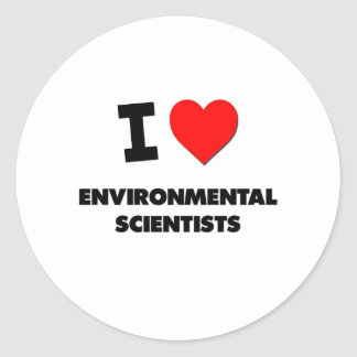I Love Environmental Scientists Sticker