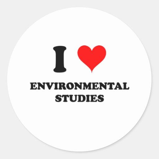 I Love Environmental Studies Classic Round Sticker