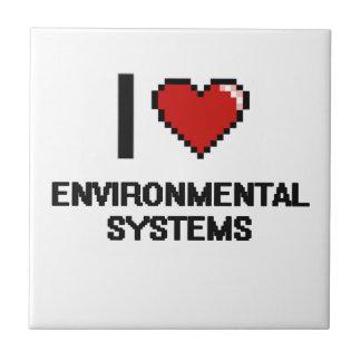 I Love Environmental Systems Digital Design Small Square Tile