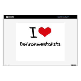 "I love Environmentalists Skin For 12"" Laptop"