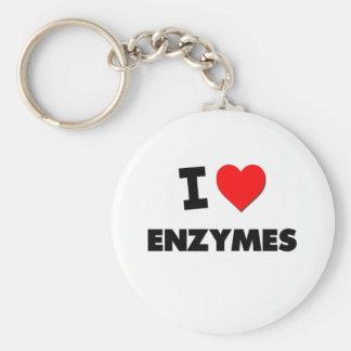 I love Enzymes Basic Round Button Keychain