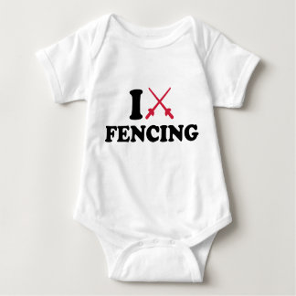 I love epee fencing tee shirt