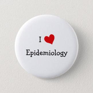 I Love Epidemiology Button