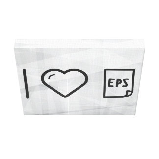 I Love Eps Papers Canvas Print