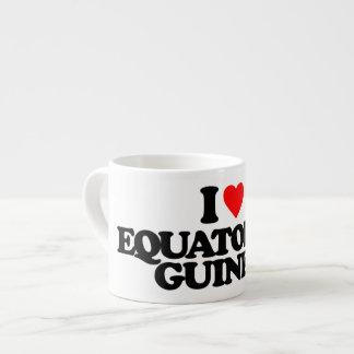 I LOVE EQUATORIAL GUINEA 6 OZ CERAMIC ESPRESSO CUP