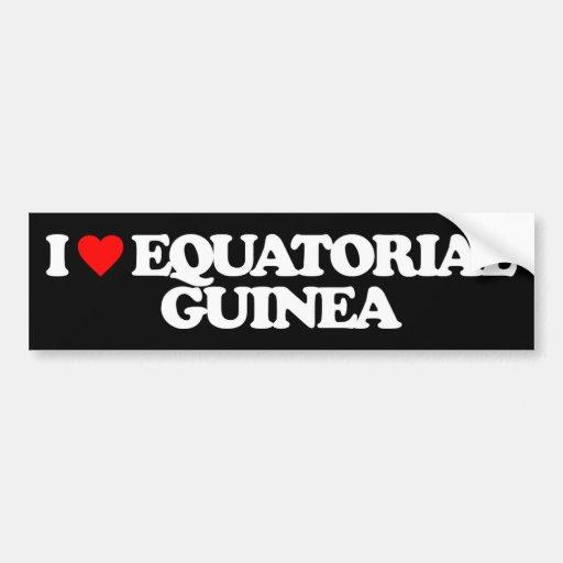 I LOVE EQUATORIAL GUINEA BUMPER STICKERS