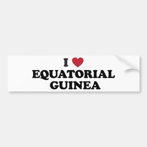 I Love Equatorial Guinea Bumper Sticker