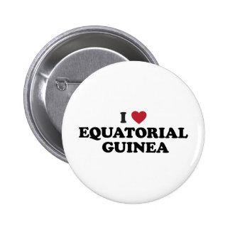 I Love Equatorial Guinea Button
