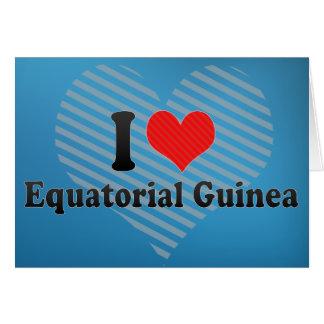 I Love Equatorial Guinea Cards