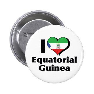 I Love Equatorial Guinea Flag Button