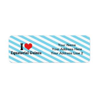 I Love Equatorial Guinea Return Address Label