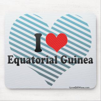 I Love Equatorial Guinea Mouse Pads