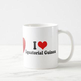 I Love Equatorial Guinea Coffee Mugs