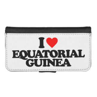 I LOVE EQUATORIAL GUINEA iPhone 5 WALLET CASES