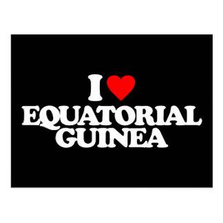 I LOVE EQUATORIAL GUINEA POSTCARD