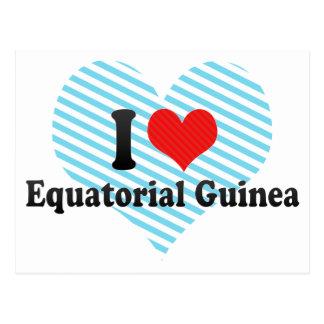 I Love Equatorial Guinea Postcards