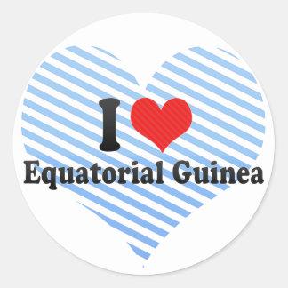I Love Equatorial Guinea Stickers