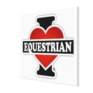 I Love Equestrian Canvas Print