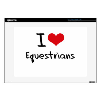"I love Equestrians 15"" Laptop Decal"